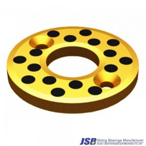 Cast thrust washer-bronze graphite bushing