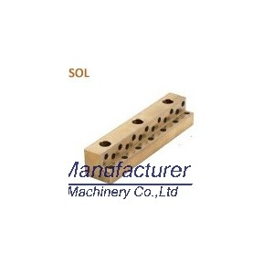 SOL L shaped oilless plate,guide slide plate, bronze plate