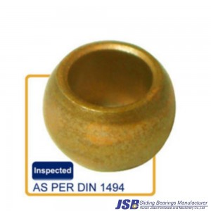 Spherical shape bronze sleeve bearing