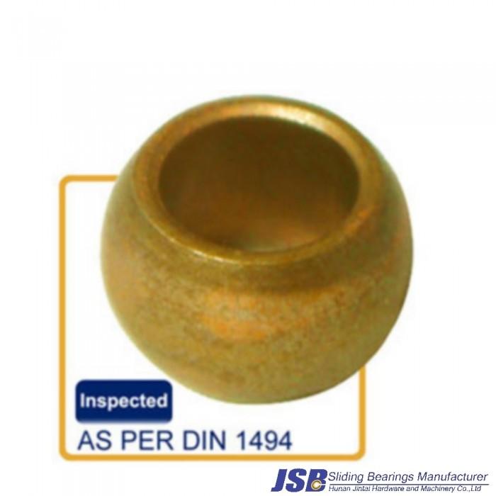 Spherical shape bronze sleeve bearing