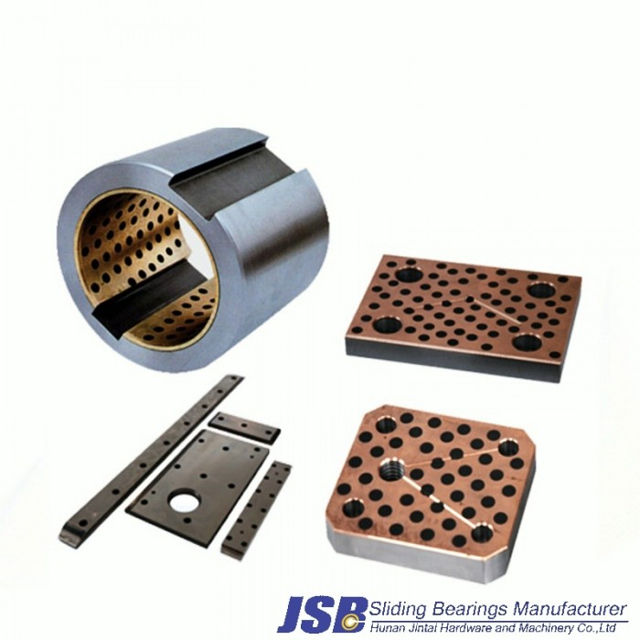 Cast Iron bronze bearing for auto parts solid lubricant inlaid bearing