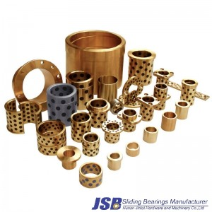 Custom Self Lubrication Graphite Cast Bronze Bushing Oilless Bearing