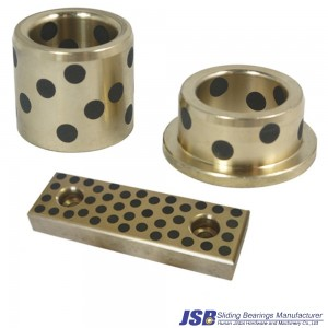 plugged graphite bushing,plugged graphitebearing , graphite plugged bronze bearing