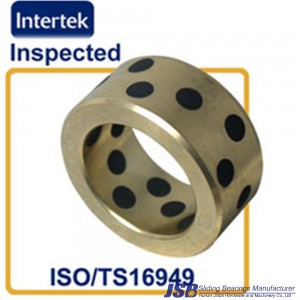 solid bronze bearing with graphite lubricating